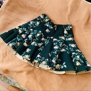 LC Pleated Floral Skirt
